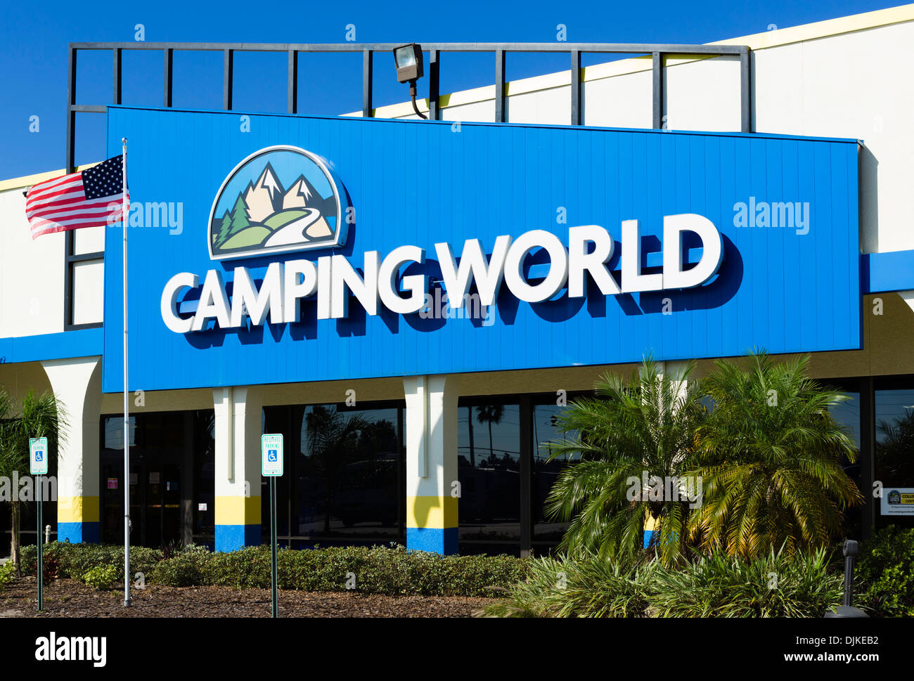 Camping World RV sales outlet on US 192 in Kissimmee, Orlando, Central Florida, USA - Stock Image