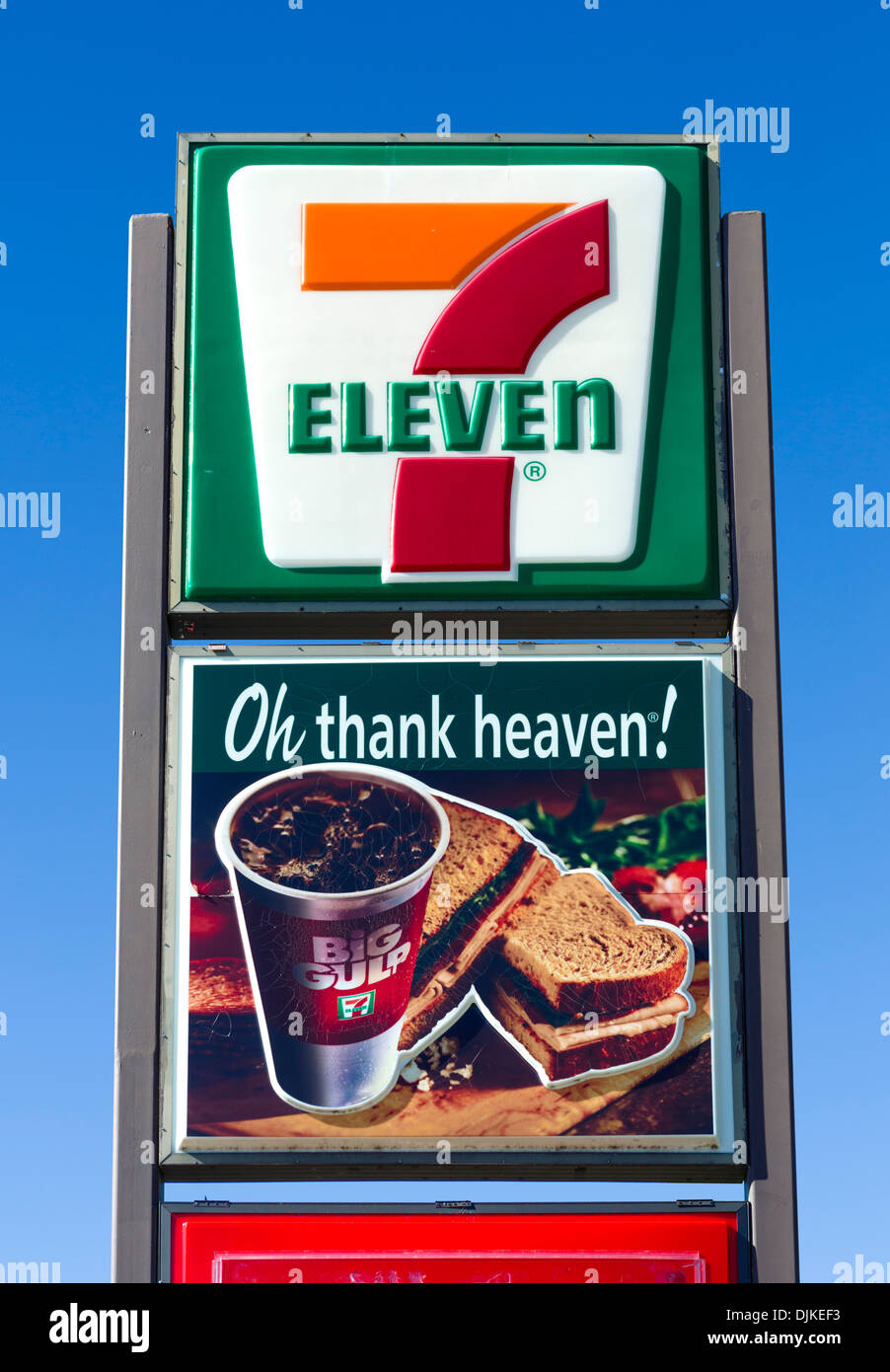 7-Eleven gas station and convenience store, Central Florida, USA - Stock Image