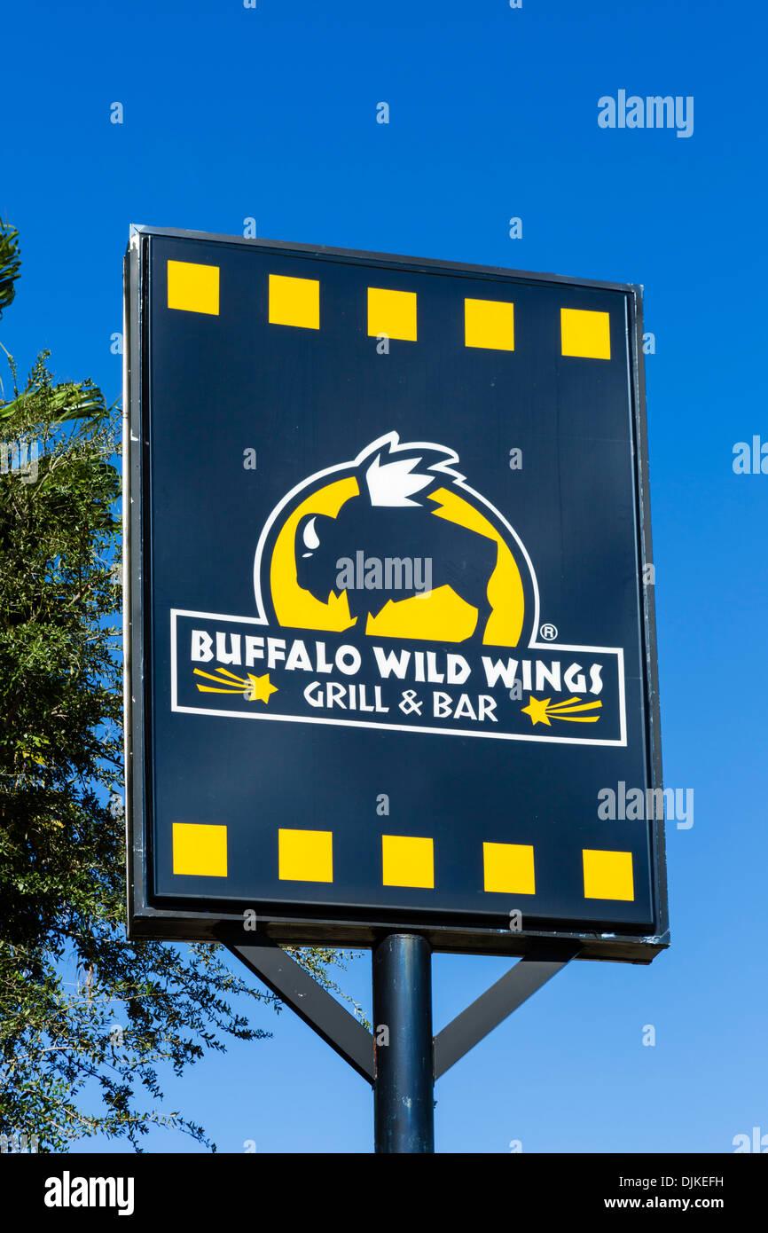 Buffalo Wild Wings Bar and Grill, International Drive, Orlando, Central Florida, USA - Stock Image