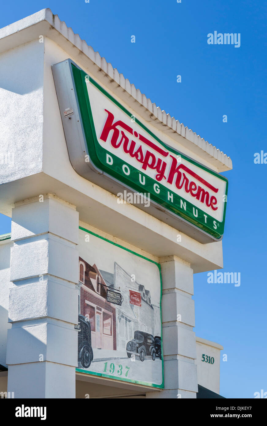 Krispy Kreme Doughnuts Store, Highway 192, Kissimmee, Orlando, Central Florida, USA - Stock Image
