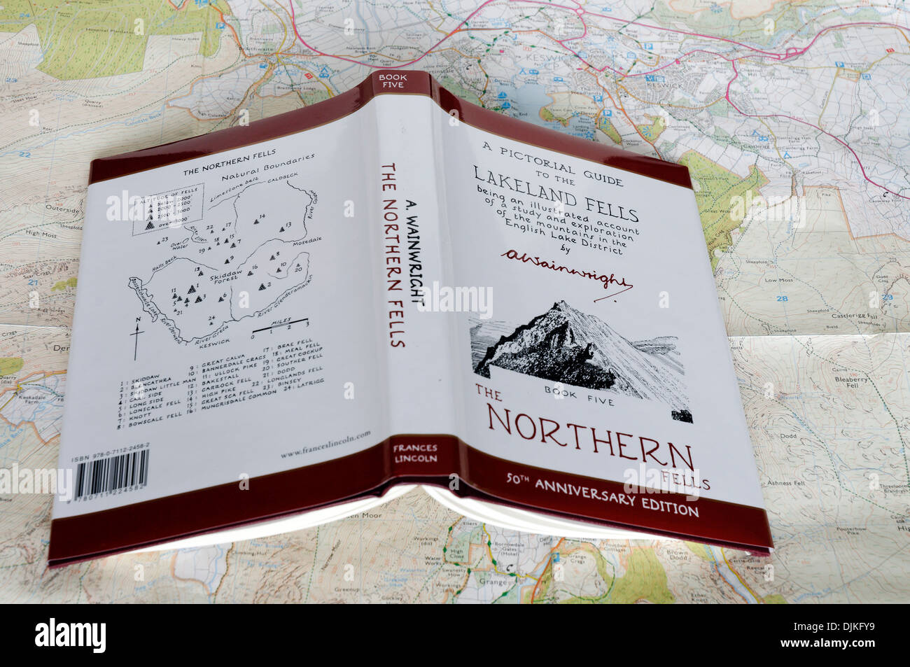 Map Of England 2100.Wainwright Walking Guide To The Lake District Of Nw England On A