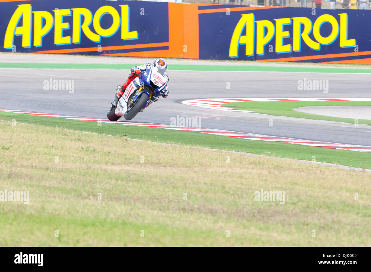 Sep. 05, 2010 - Misano Adriatico, Italy - FIAT Yamaha rider Jorge Lorenzo (SPA #99) defend his second place of the San Marino GP (Credit Image: © Andrea Ranalli/Southcreek Global/ZUMApress.com) - Stock Image