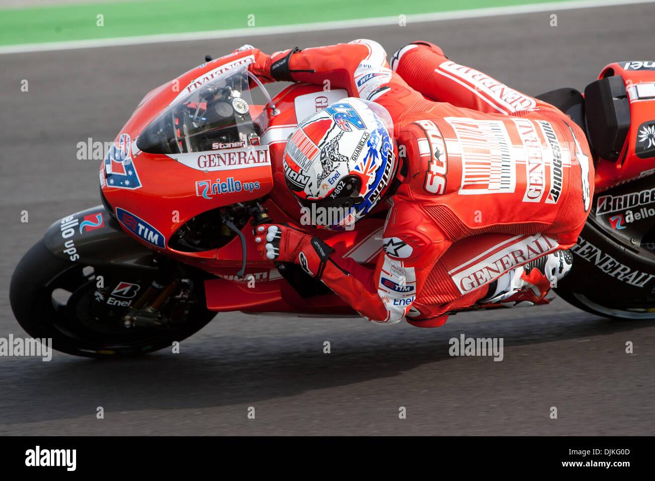 Sep. 05, 2010 - Misano Adriatico, Italy - Ducati rider Casey Stoner (AUS 27)  during the San Marino GP in Misano Adriatico, Italy. (Credit Image: © Andrea Ranalli/Southcreek Global/ZUMApress.com) - Stock Image