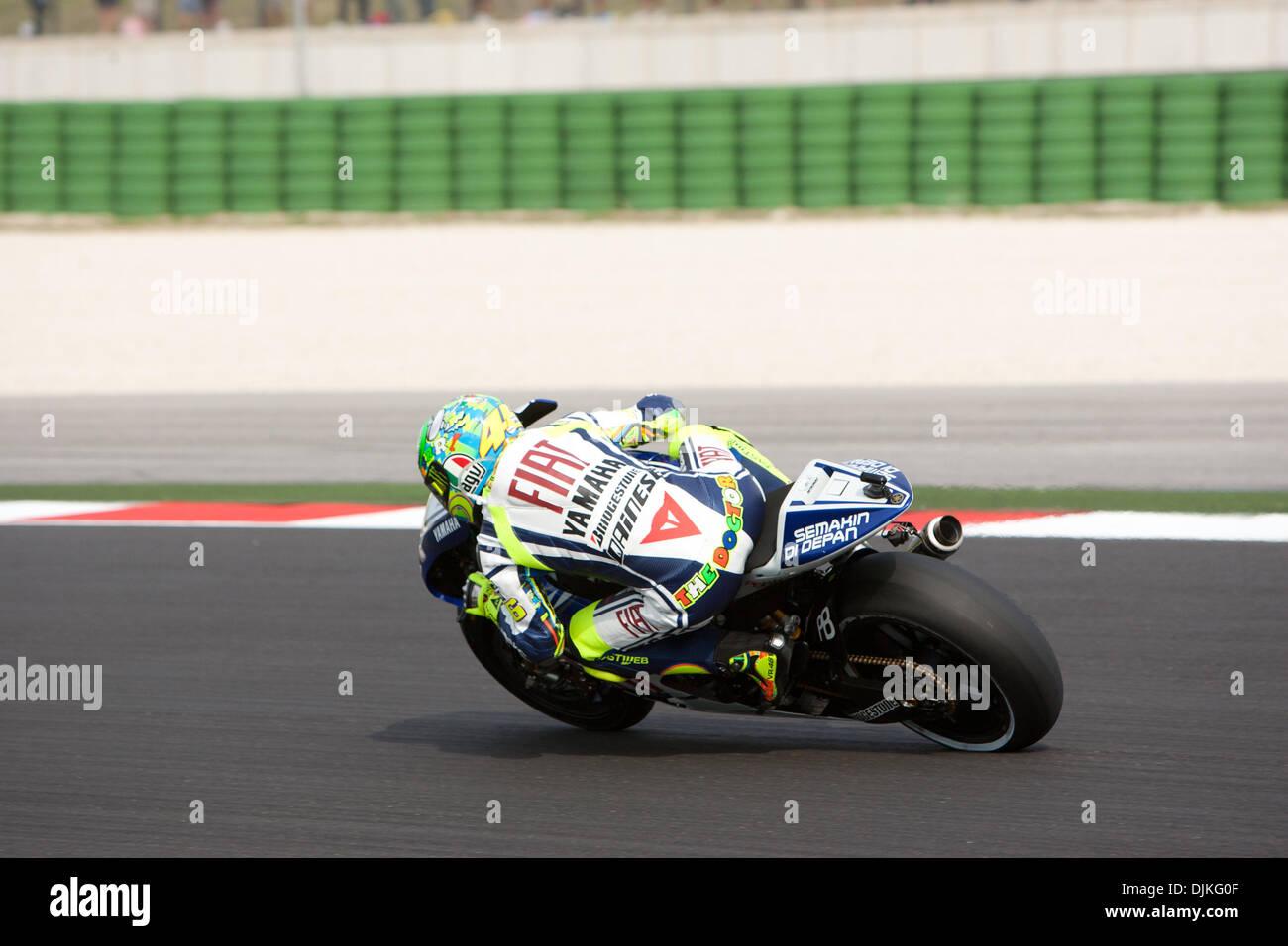 Sep. 05, 2010 - Misano Adriatico, Italy - FIAT Yamaha rider Valentino Rossi (ITA #46)  during the San Marino GP in Misano Adriatico, Italy. (Credit Image: © Andrea Ranalli/Southcreek Global/ZUMApress.com) - Stock Image