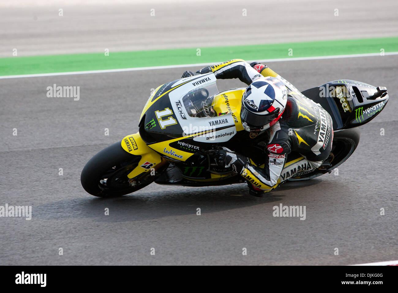 Sep. 05, 2010 - Misano Adriatico, Italy - Tech3 Yamaha rider Ben Spies (USA #11)  during the San Marino GP in Misano Adriatico, Italy. (Credit Image: © Andrea Ranalli/Southcreek Global/ZUMApress.com) - Stock Image