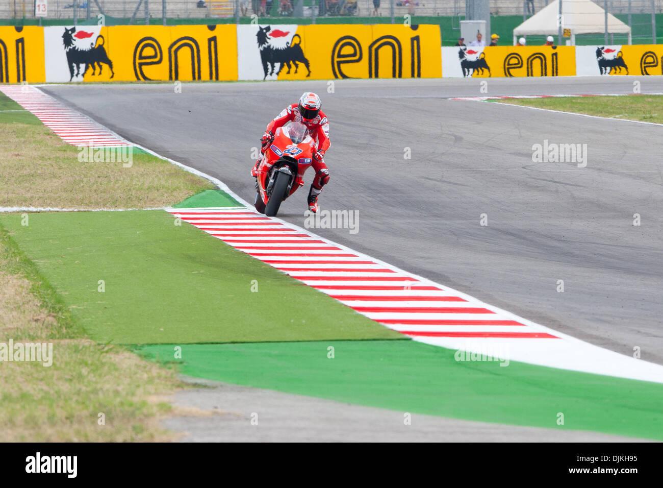 Sep. 07, 2010 - Misano Adriatico, Italy - Ducati rider Casey Stoner in the 4th place of the San Marino GP in Misano Adriatico, Italy. (Credit Image: © Andrea Ranalli/Southcreek Global/ZUMApress.com) - Stock Image