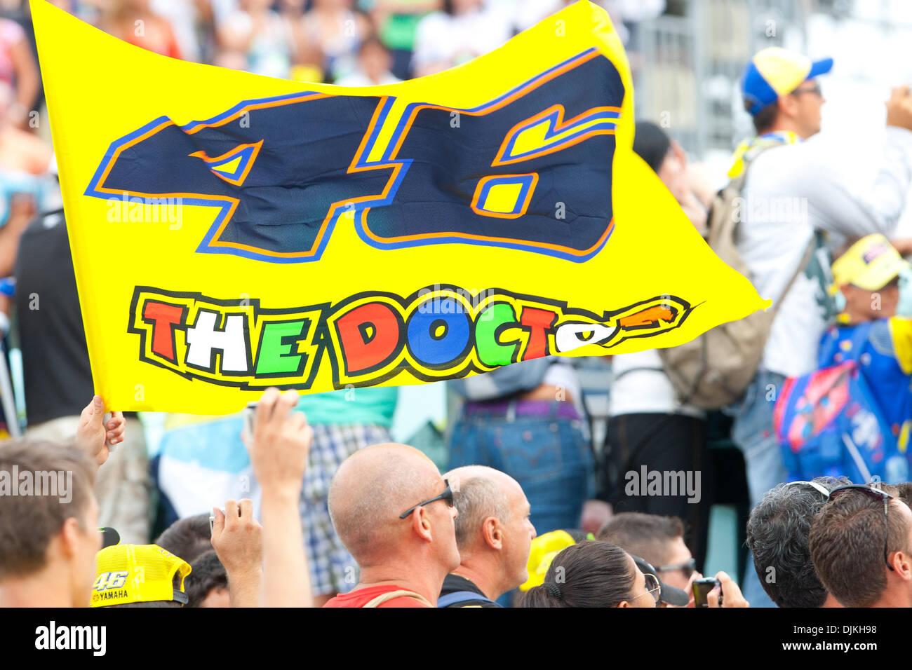 Sep. 07, 2010 - Misano Adriatico, Italy - Valentino Rossi fans at the San Marino GP in Misano Adriatico, Italy. (Credit Image: © Andrea Ranalli/Southcreek Global/ZUMApress.com) - Stock Image