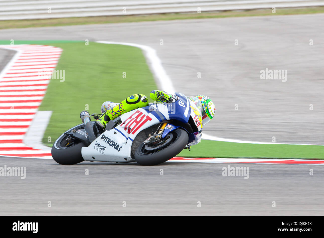 Sep. 07, 2010 - Misano Adriatico, Italy - Yamaha rider Valentino Rossi (#46) finished the race at the 3rd place the San Marino GP in Misano Adriatico, Italy. For Rossi is the second podium after recovering from the incident at Mugello circuit. (Credit Image: © Andrea Ranalli/Southcreek Global/ZUMApress.com) - Stock Image