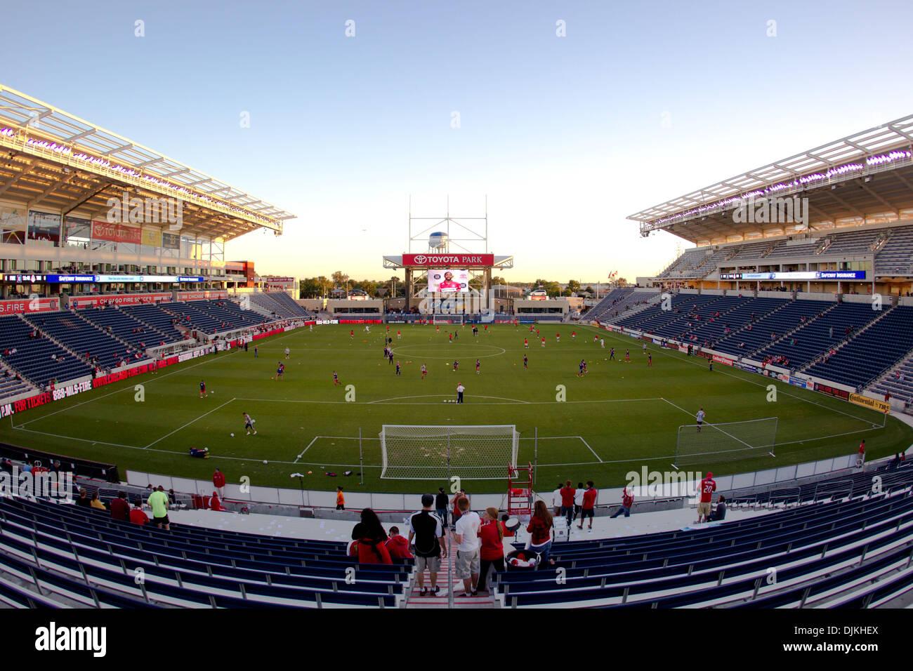8, 2010   Bridgeview, Illinois, United States Of America   Toyota Park  Before The Start Of The MLS Game Between The Chicago Fire And Toronto FC At  Toyota ...