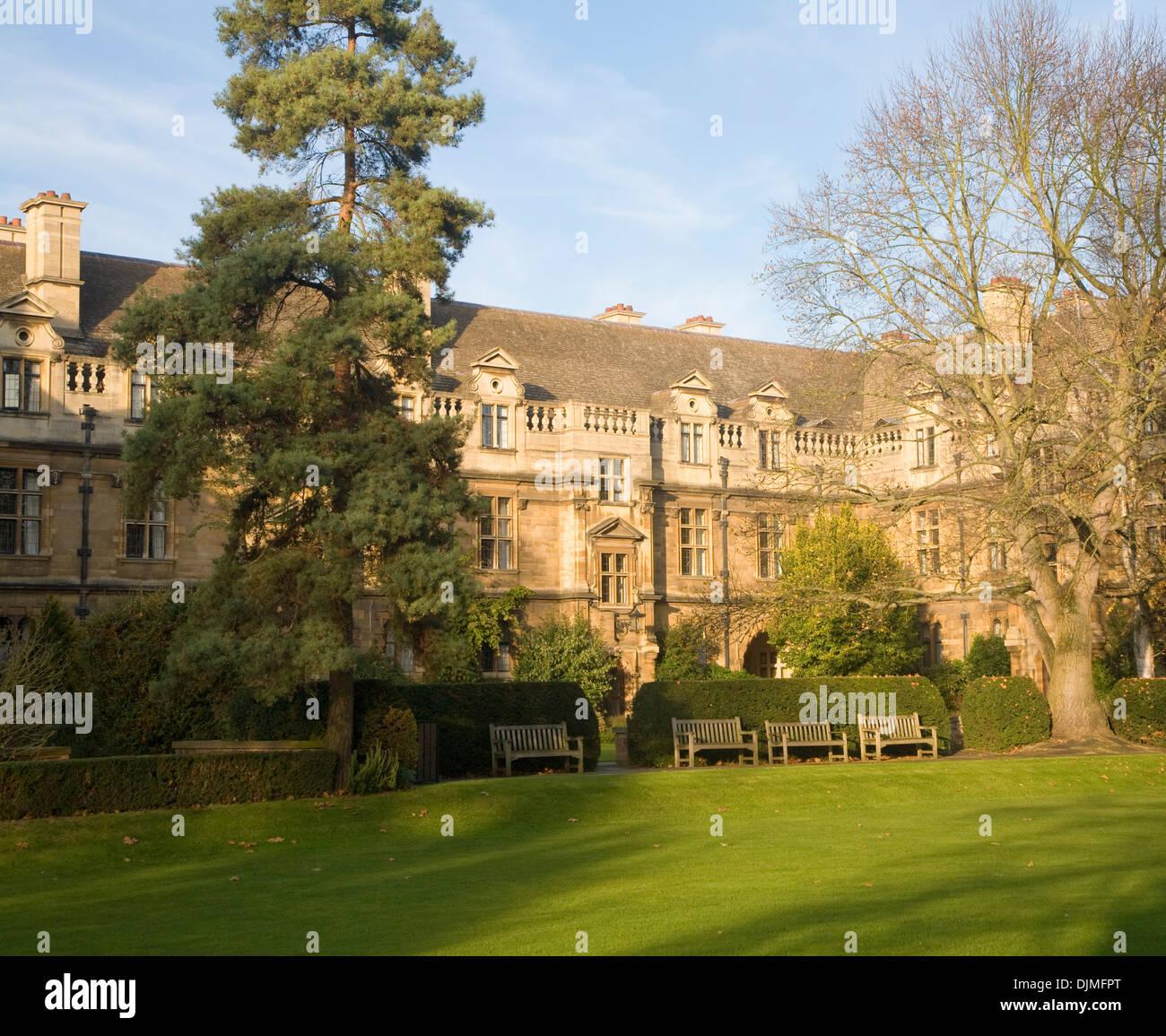 Pembroke College, University of Cambridge, England - Stock Image