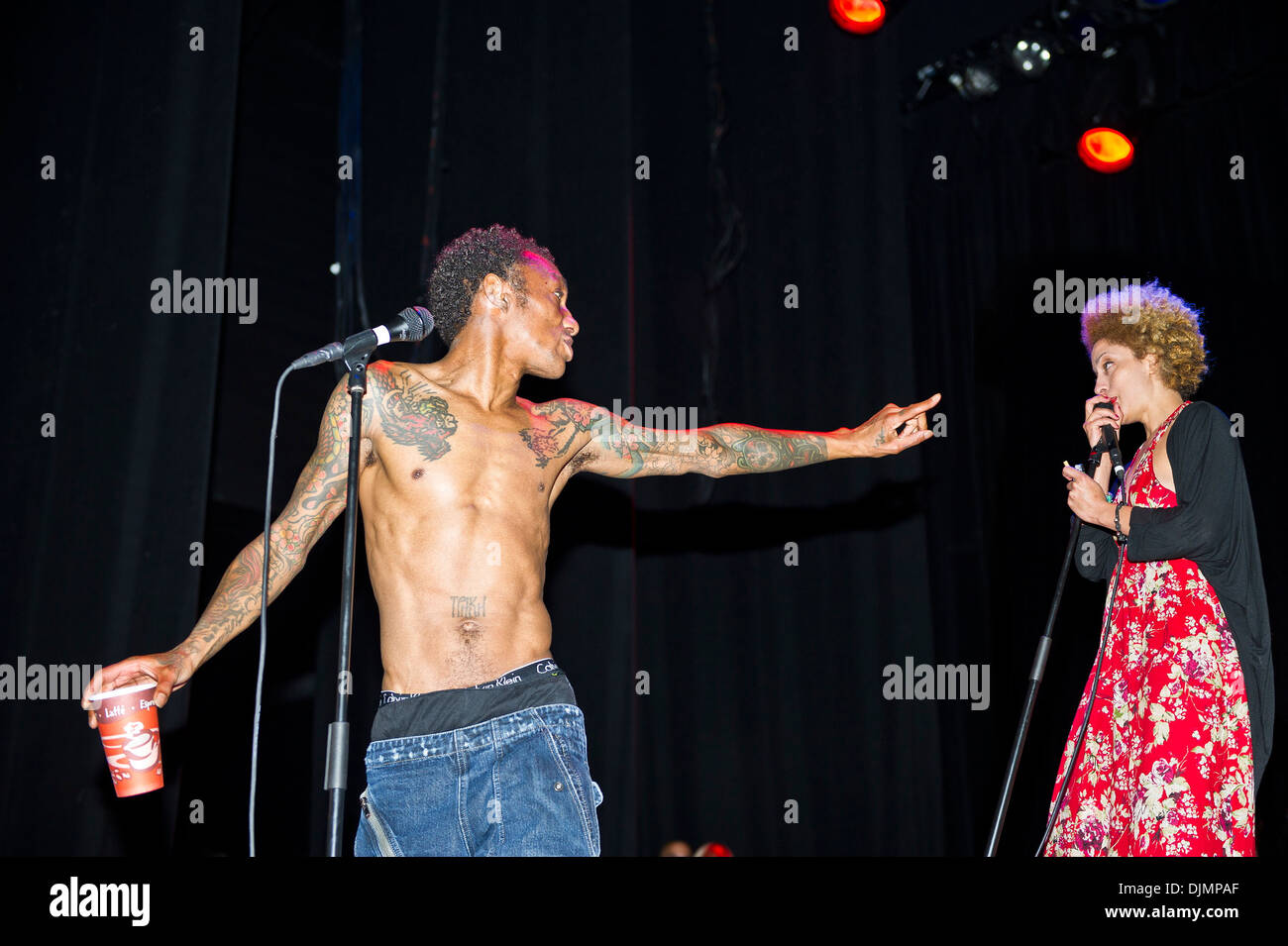 Tricky and Martina Topley Bird perform at the Indigo London, UK - 27.04.12 - Stock Image