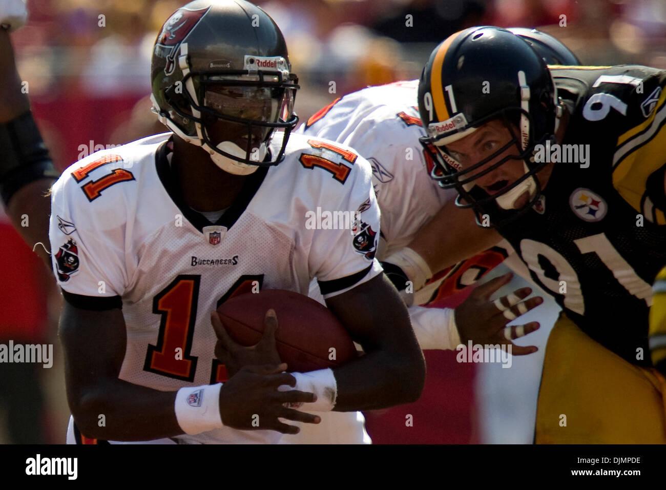 Sep. 26, 2010 - Tampa, Florida, United States of America -  Tampa Bay Buccaneers quarterback Josh Johnson (11) with Stock Photo
