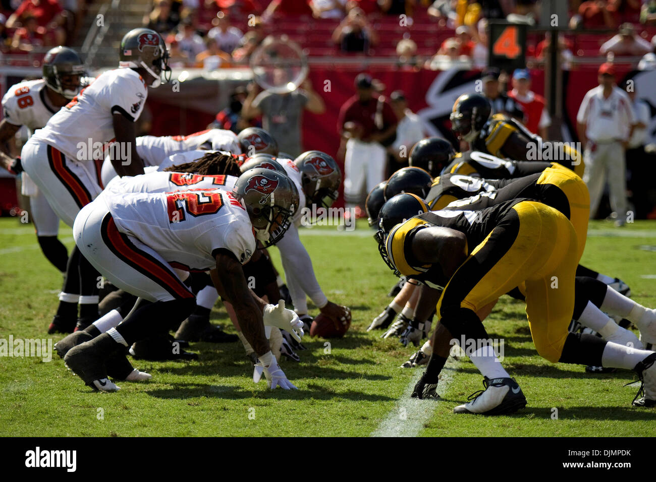 Sep. 26, 2010 - Tampa, Florida, United States of America - Tampa Bay Buccaneers host the Pittsburgh Steelers at Stock Photo