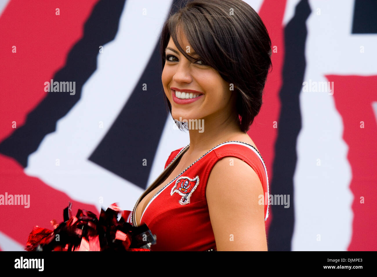 Sep. 26, 2010 - Tampa, Florida, United States of America - Tampa Bay Buccaneers cheerleaders prior to the game against Stock Photo