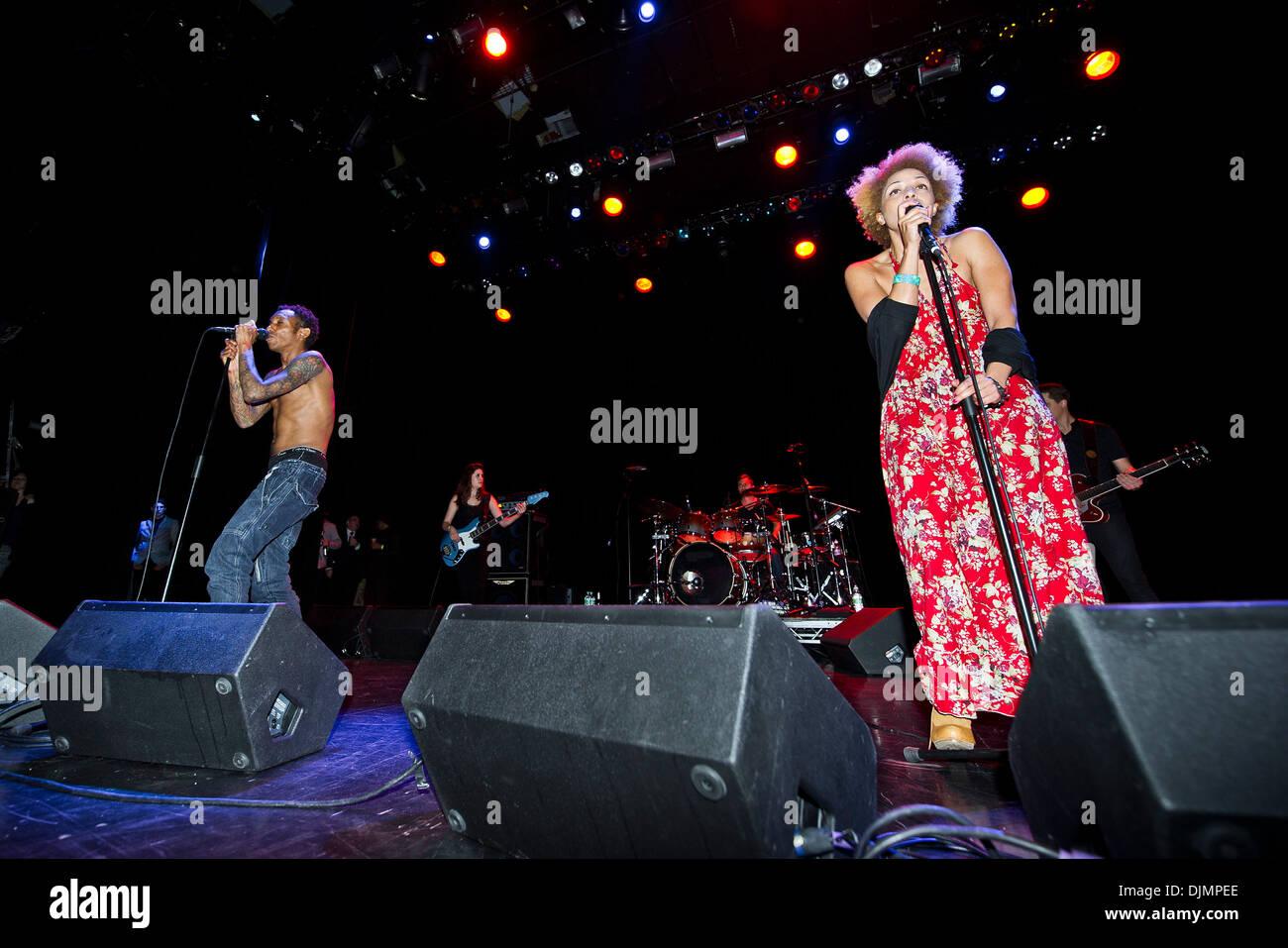 Tricky and Martina Topley Bird perform at the Indigo London, UK - 27.04.12 - Stock Image