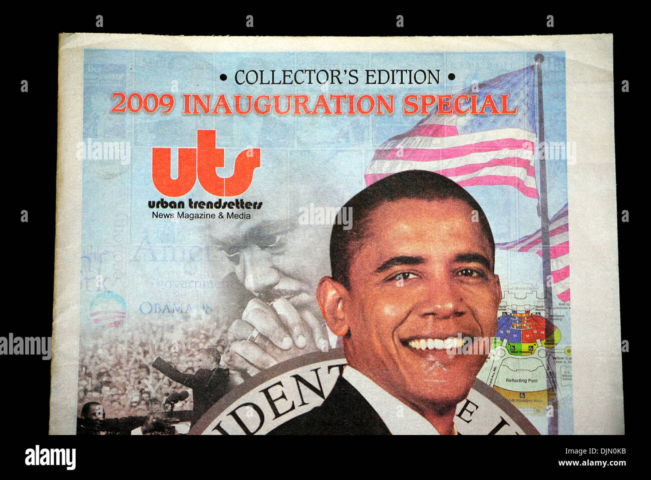 2009 inauguration newsletter special collectors edition of Barrack Obama. - Stock Image