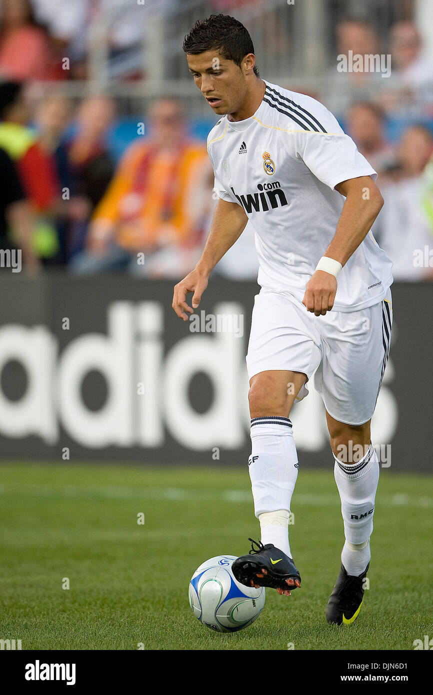 Real Madrid Midfielder Cristiano Ronaldo  In Action During A Fifa International Friendly Soccer Match Between Real Madrid And Toronto Fc At Bmo Field In