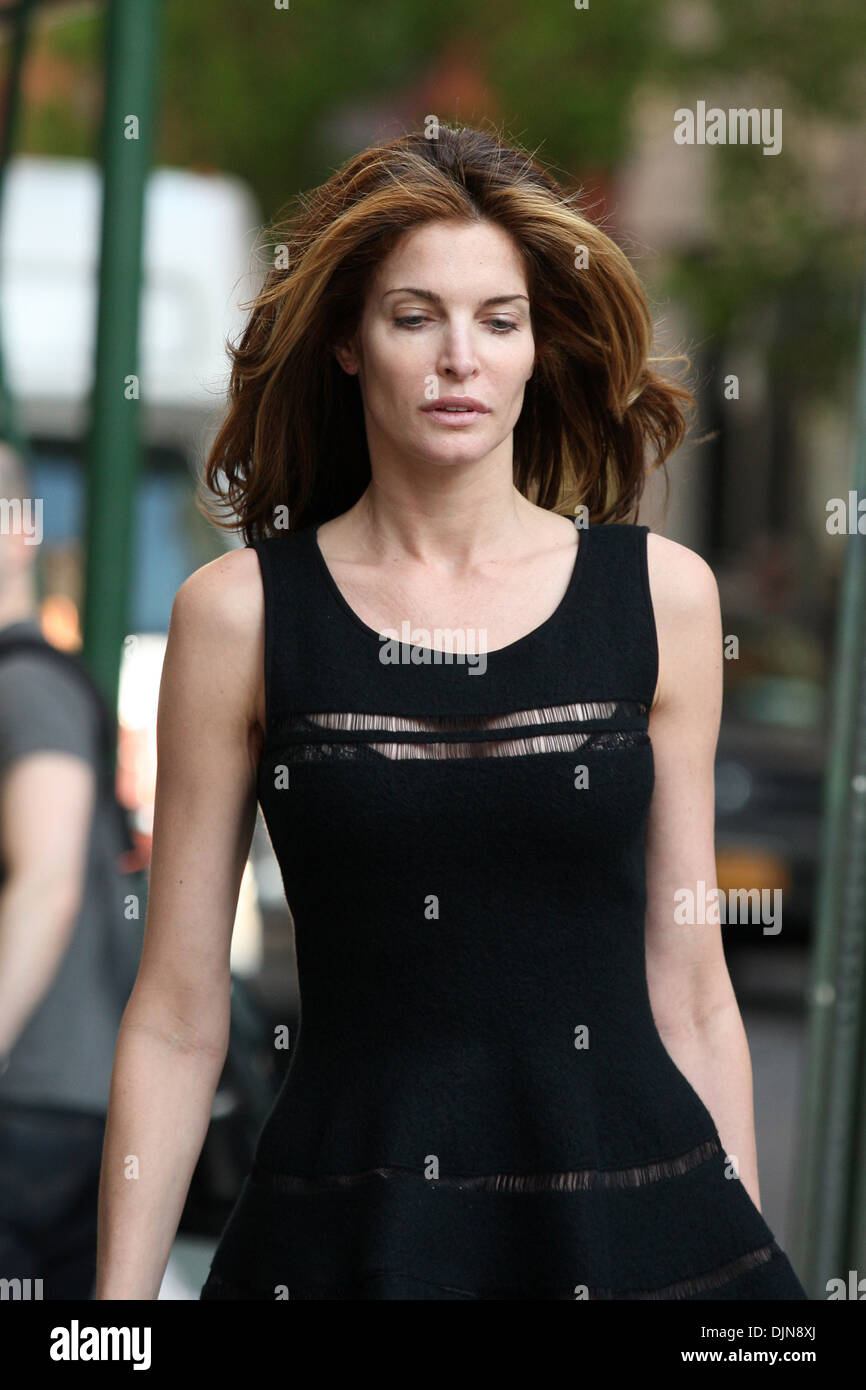 supermodel stephanie seymour out and about with no makeup new york