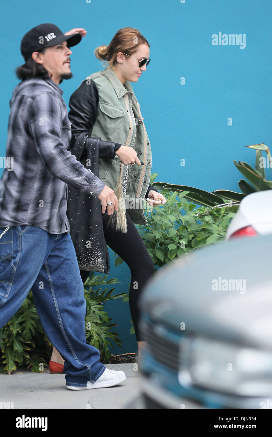 Miley Cyrus Exits Her Winsor Pilates Class Los Angeles California