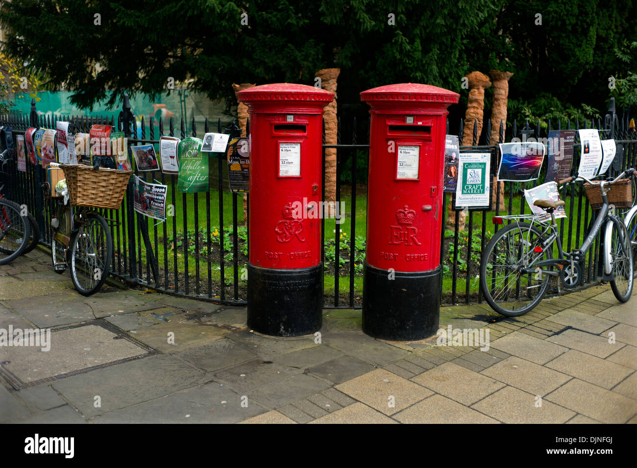 Cambridge Post Boxes, Cambridge England, UK. 11-2013 - Stock Image