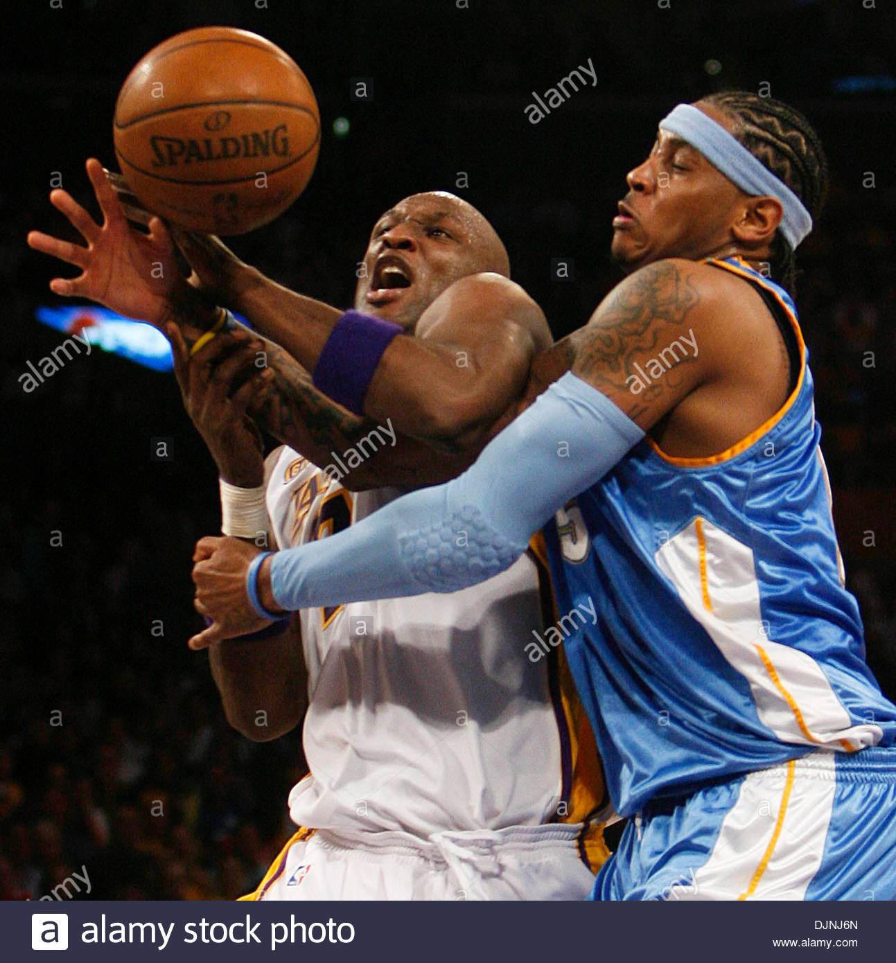 Game 1 Denver Nuggets Los Angeles Clippers: Carmelo Anthony Denver Nuggets Game Stock Photos & Carmelo