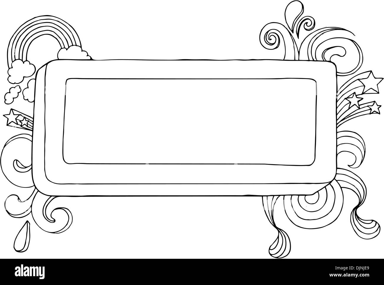 hand drawn text box blank stock photos hand drawn text box blank