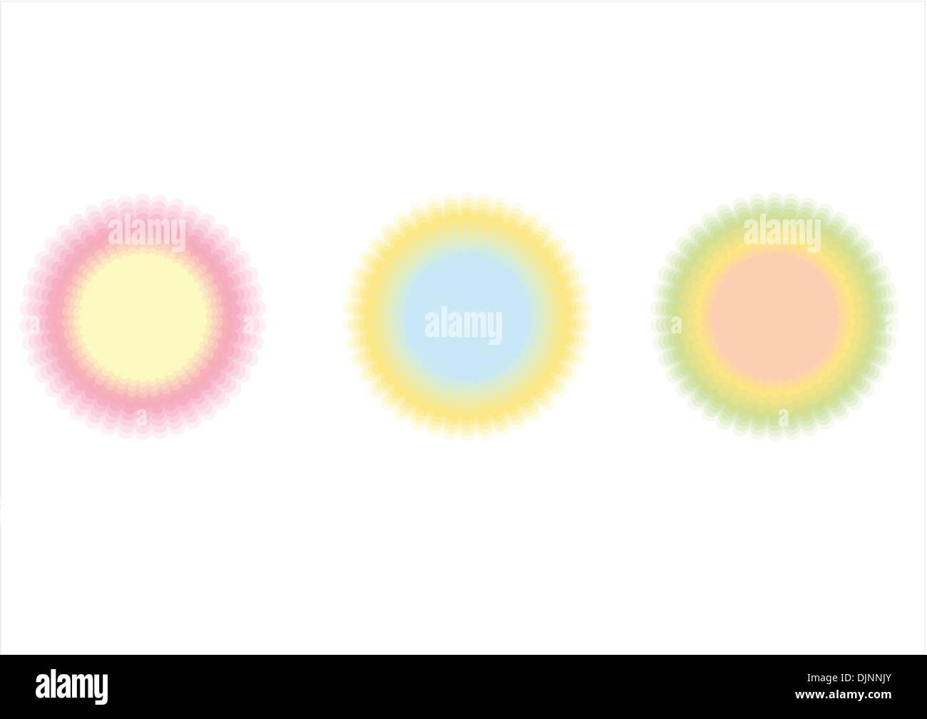 Enements Rings   Design Elements Rings Circlets Stock Vector Art Illustration