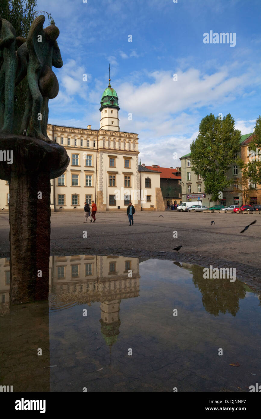 The Renaissance Town Hall now the Museum of Ethnology, in Central Square, The old Jewish Quarter at Kazimierz, Krakow, Poland - Stock Image