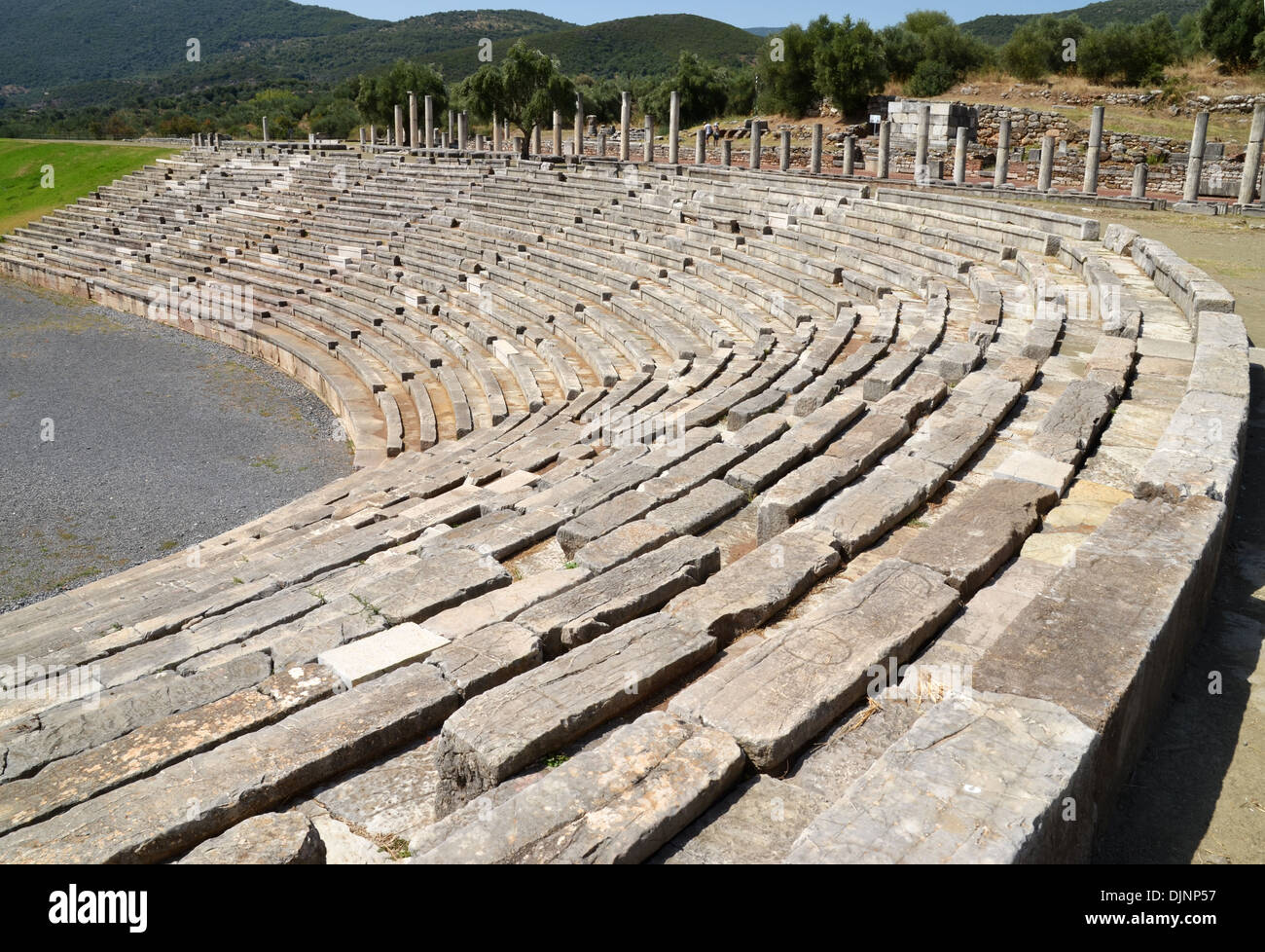 Stadium seating at Messina in Greece number 3416 - Stock Image