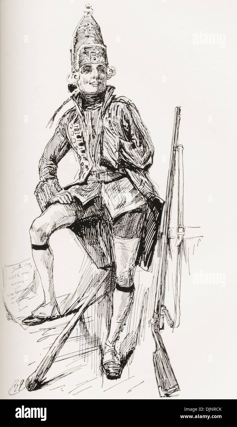Joe Willet. Illustration by Harry Furniss for the Charles Dickens novel Barnaby Rudge. - Stock Image