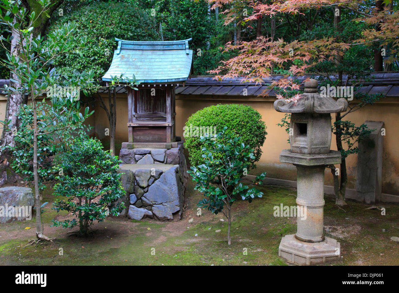 Japan, Kyoto, Daitokuji Temple, Kourin-in, garden, - Stock Image