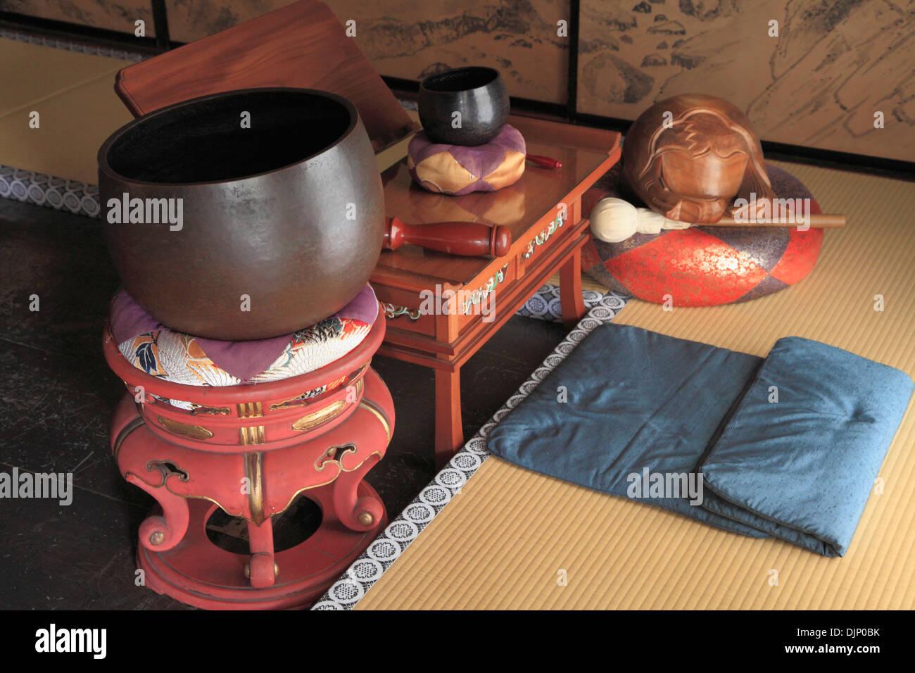 Japan, Kyoto, Daitokuji Temple, Zuiho-in, interior, prayer accessories, - Stock Image