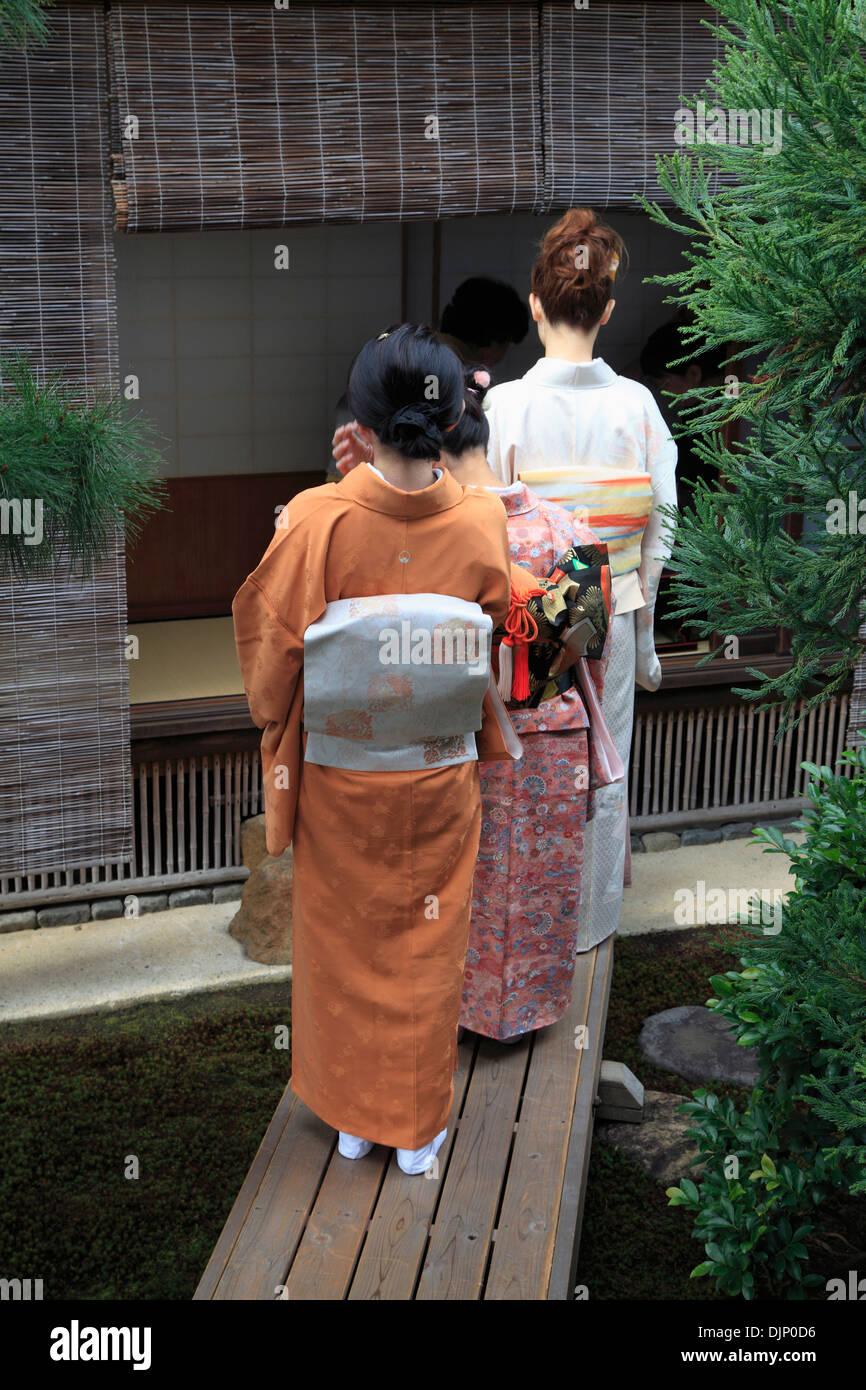 Japan, Kyoto, Daitokuji Temple, Zuiho-in, garden, people, - Stock Image
