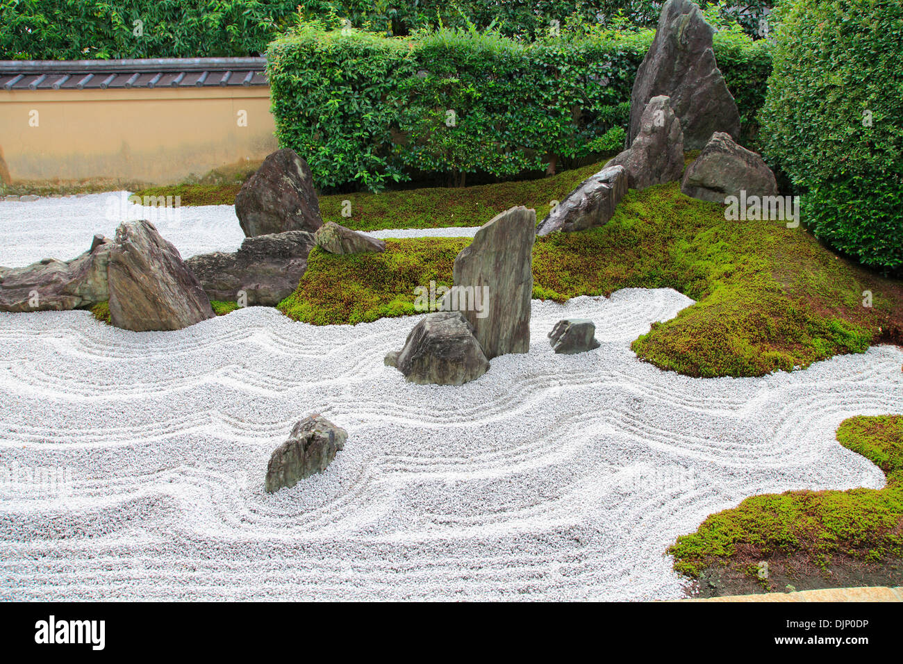 Japan, Kyoto, Daitokuji Temple, Zuiho-in, Garden of Solitary Sitting, - Stock Image