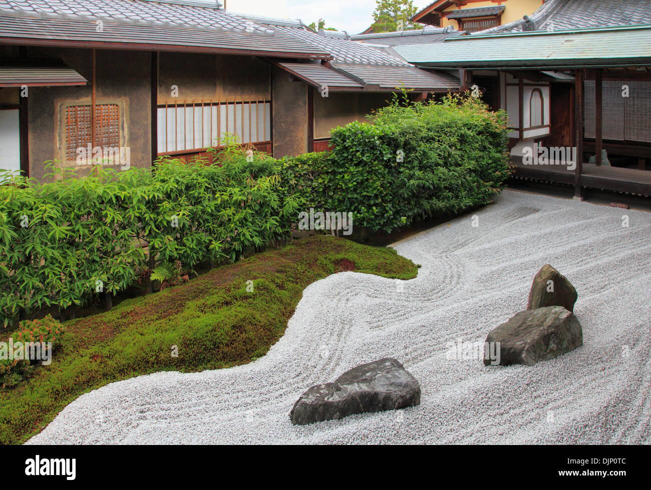 Japan, Kyoto, Daitokuji Temple, Zuiho-in, Garden of the Cross, - Stock Image