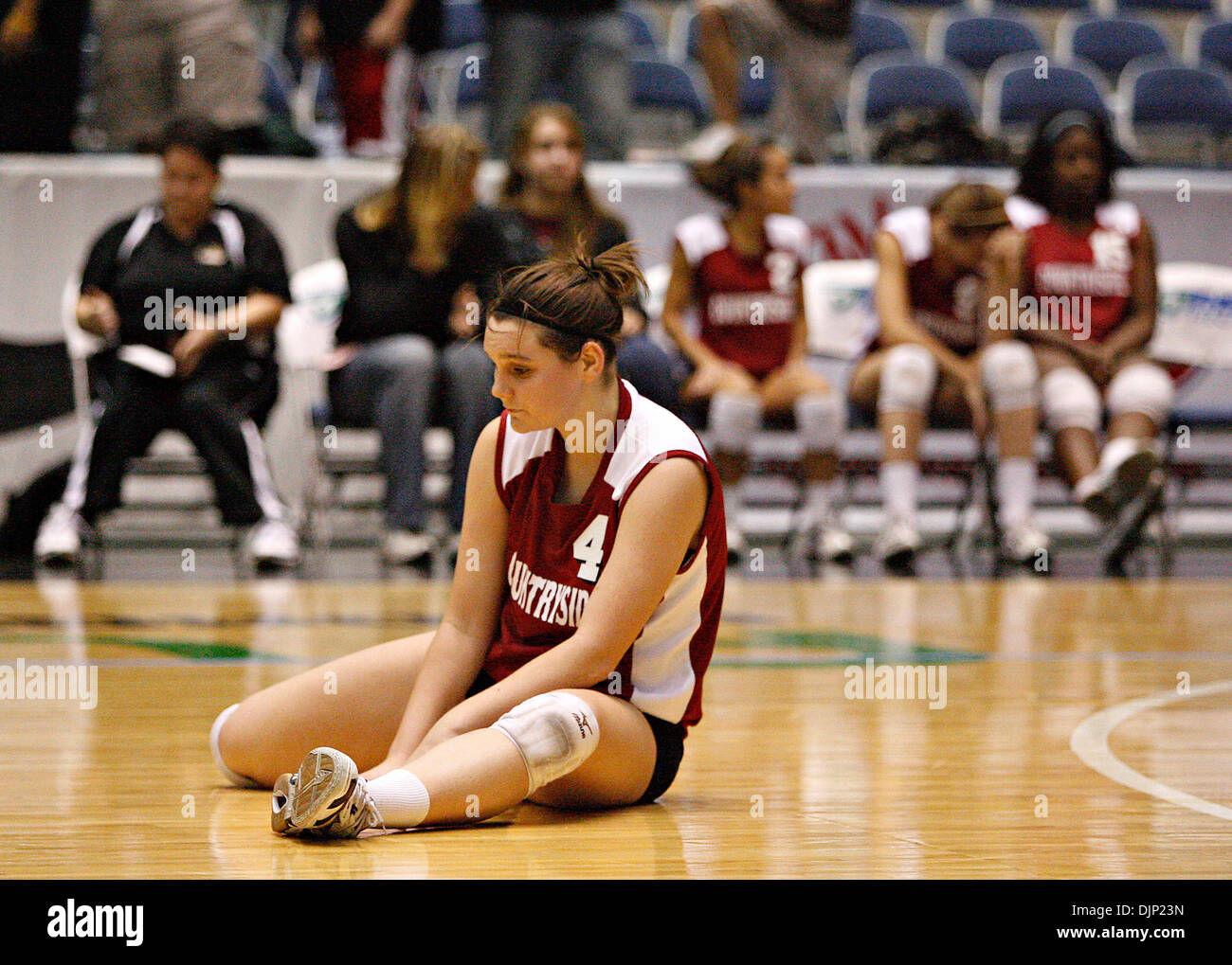 BRIAN CASSELLA   |   Times (11/19/2008 LAKELAND)  Countryside's Madison Truluck reacts to the loss. PREP VOLLEYBALL - Countryside vs. Timber Creek in a Class 6A volleyball semifinal at the Lakeland Center on Wednesday  (Credit Image: © St. Petersburg Times/ZUMA Press) - Stock Image