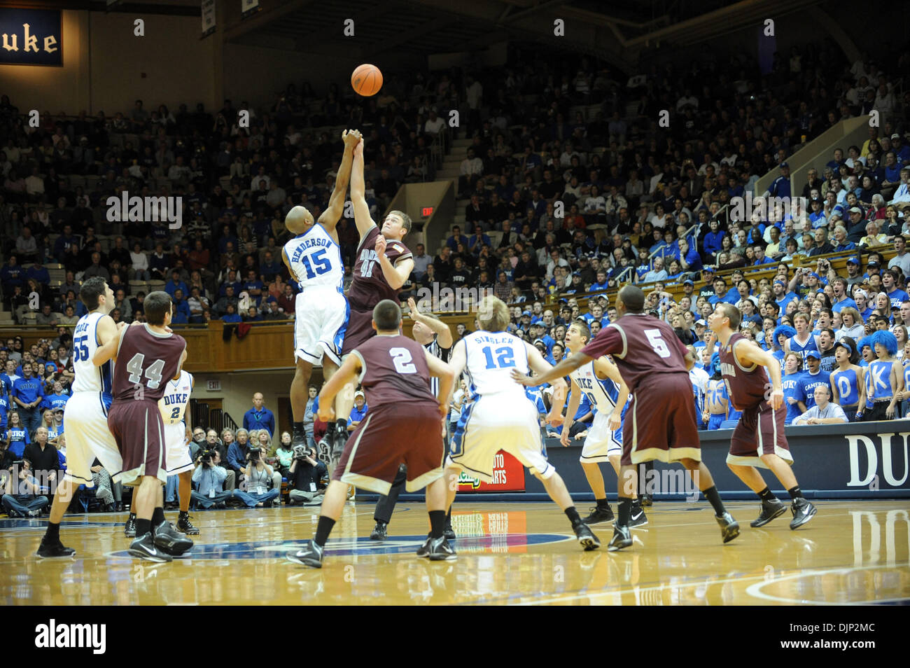 Nov 23, 2008 - Durham, North Carolina, USA - NCAA Basketball: The Duke University Bluedevils defeat the University of Montana Grizzlies with a final score of 78-58 as they played mens college basketball at Cameron Indoor Stadium located in Durham.   (Credit Image: © Jason Moore/ZUMA Press) - Stock Image