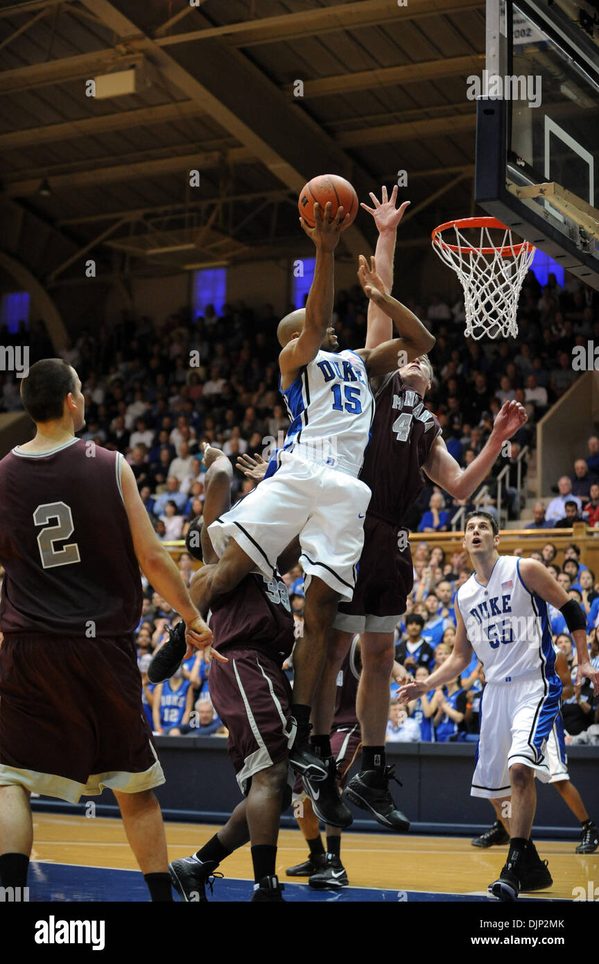 Nov 23, 2008 - Durham, North Carolina, USA - NCAA Basketball: Duke Bluedevils (15) GERALD HENDERSON drives to the basket as the Duke University Bluedevils defeat the University of Montana Grizzlies with a final score of 78-58 as they played mens college basketball at Cameron Indoor Stadium located in Durham.   (Credit Image: © Jason Moore/ZUMA Press) - Stock Image