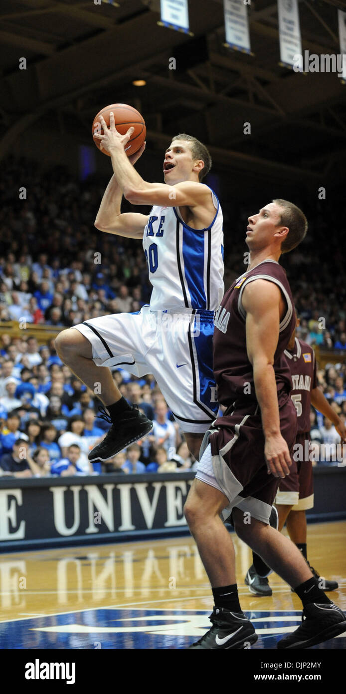 Nov 23, 2008 - Durham, North Carolina, USA - NCAA Basketball: Duke Bluedevils (30) JON SCHEYER as the Duke University Bluedevils defeat the University of Montana Grizzlies with a final score of 78-58 as they played mens college basketball at Cameron Indoor Stadium located in Durham.   (Credit Image: © Jason Moore/ZUMA Press) - Stock Image