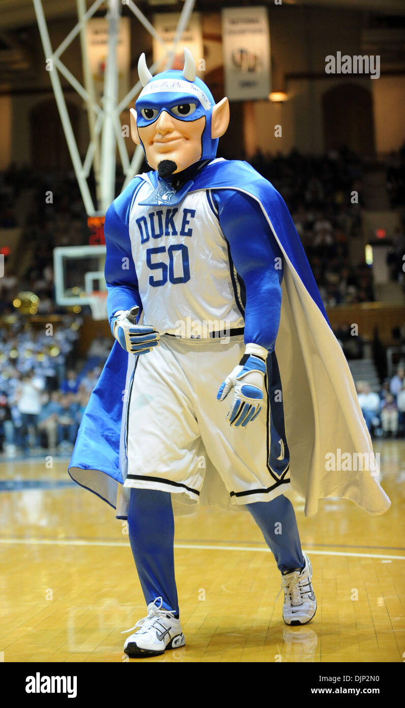 Nov 23, 2008 - Durham, North Carolina, USA - NCAA Basketball: Duke Bluedevils Mascot as the Duke University Bluedevils defeat the University of Montana Grizzlies with a final score of 78-58 as they played mens college basketball at Cameron Indoor Stadium located in Durham. (Credit Image: © Jason Moore/ZUMA Press) - Stock Image