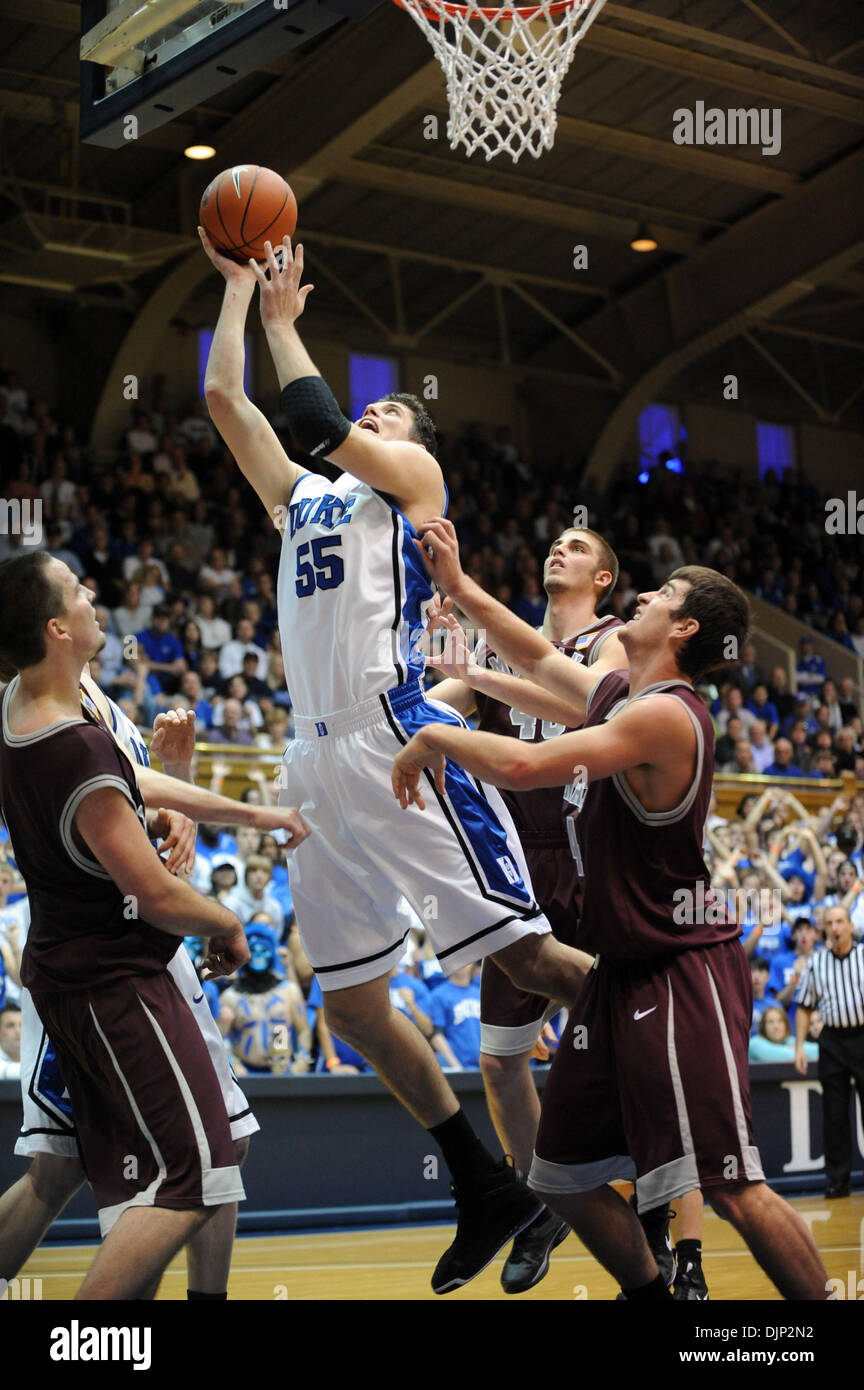 Nov 23, 2008 - Durham, North Carolina, USA - NCAA Basketball: Duke Bluedevils (55) BRIAN ZOUBEK as the Duke University Bluedevils defeat the University of Montana Grizzlies with a final score of 78-58 as they played mens college basketball at Cameron Indoor Stadium located in Durham.   (Credit Image: © Jason Moore/ZUMA Press) - Stock Image