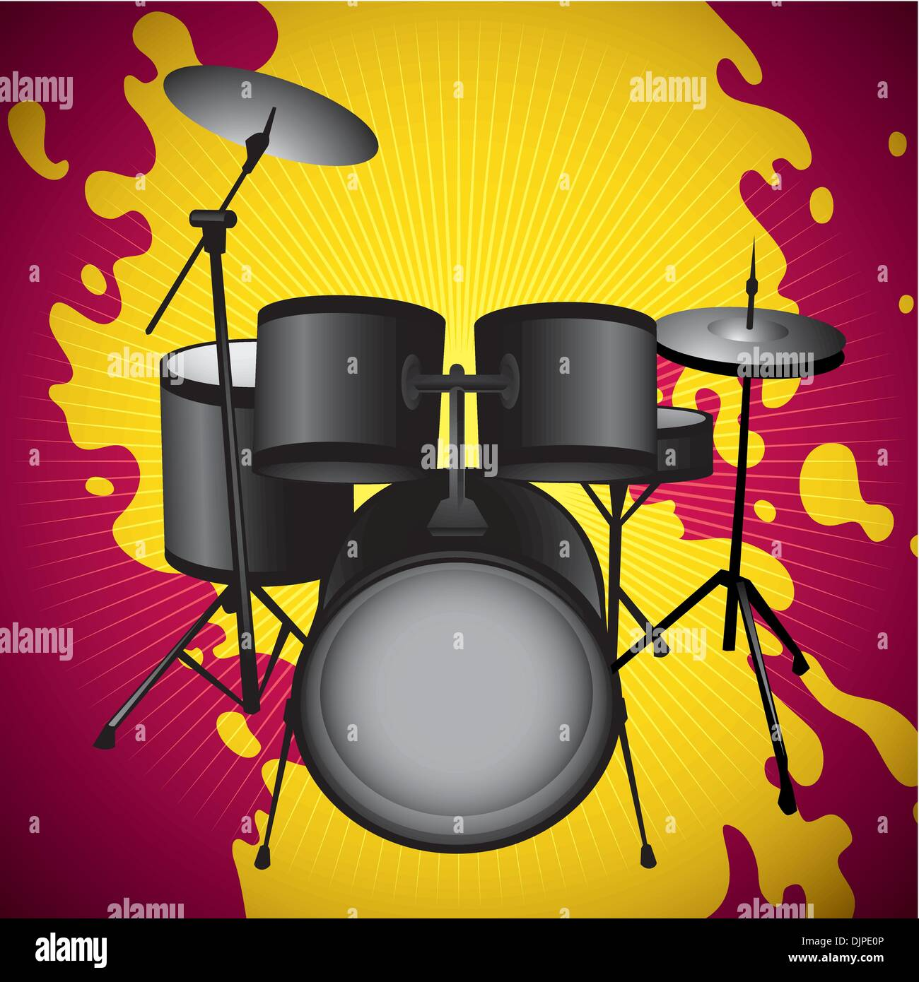 Drum Set Stock Vector Images - Alamy
