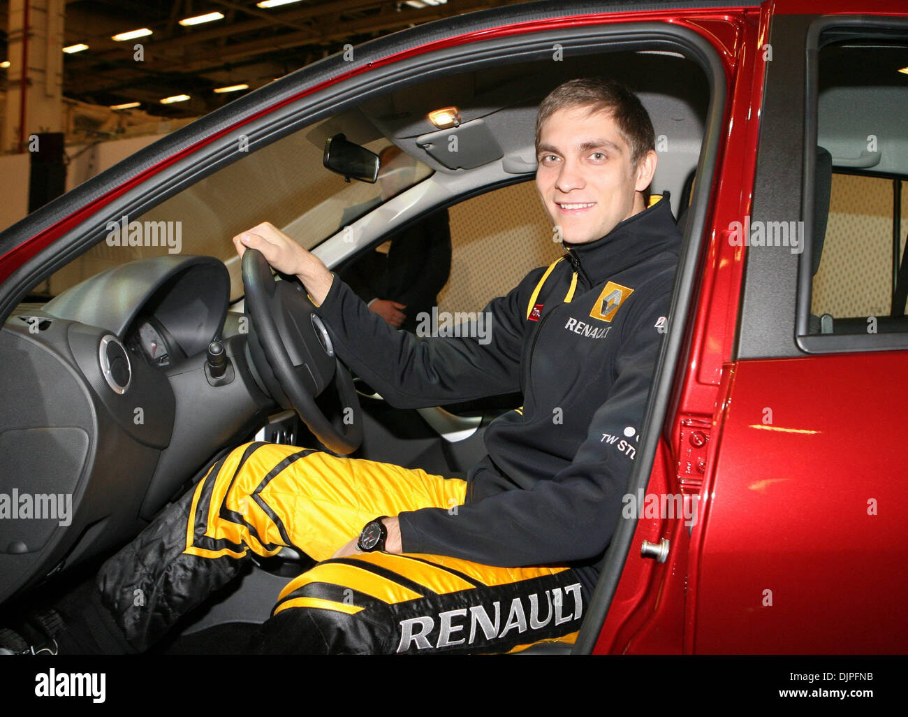 Mar 01, 2010 - Moscow, Russia - VITALY PETROV, Russian Formula One driver for the Renault F1 team pictured at Avtoframos car plant in Moscow. Vitaly Petrov is the first Russian driver to take part in the Formula One World Championship. (Credit Image: © PhotoXpress/ZUMA Press) - Stock Image