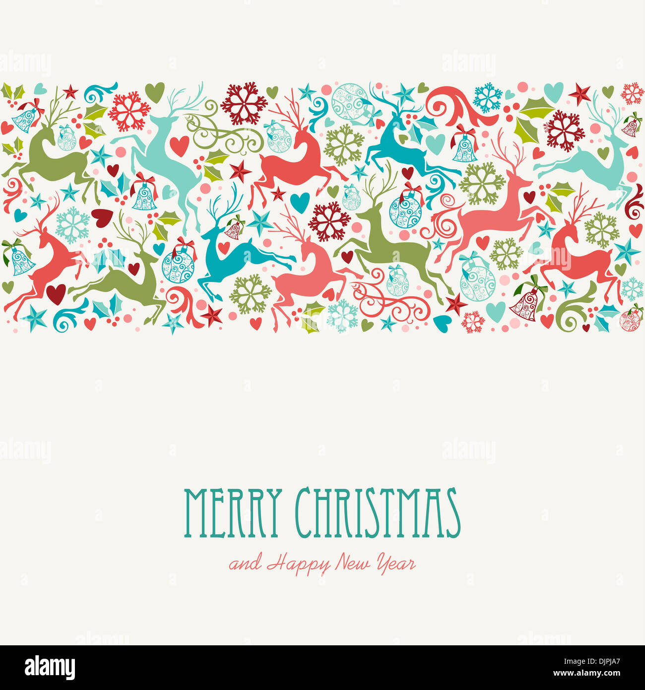 Merry Christmas and Happy New Year greeting card background. EPS10 ...
