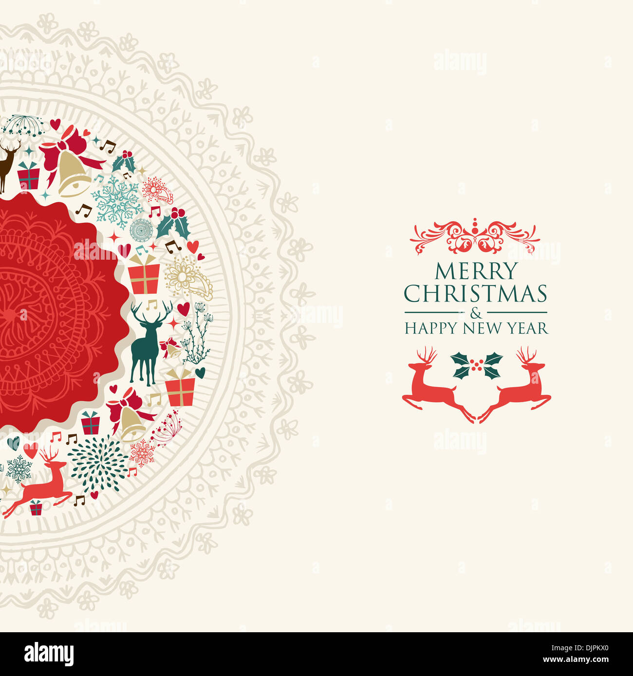 merry christmas and happy new year greeting card eps10 vector file organized in layers for easy editing