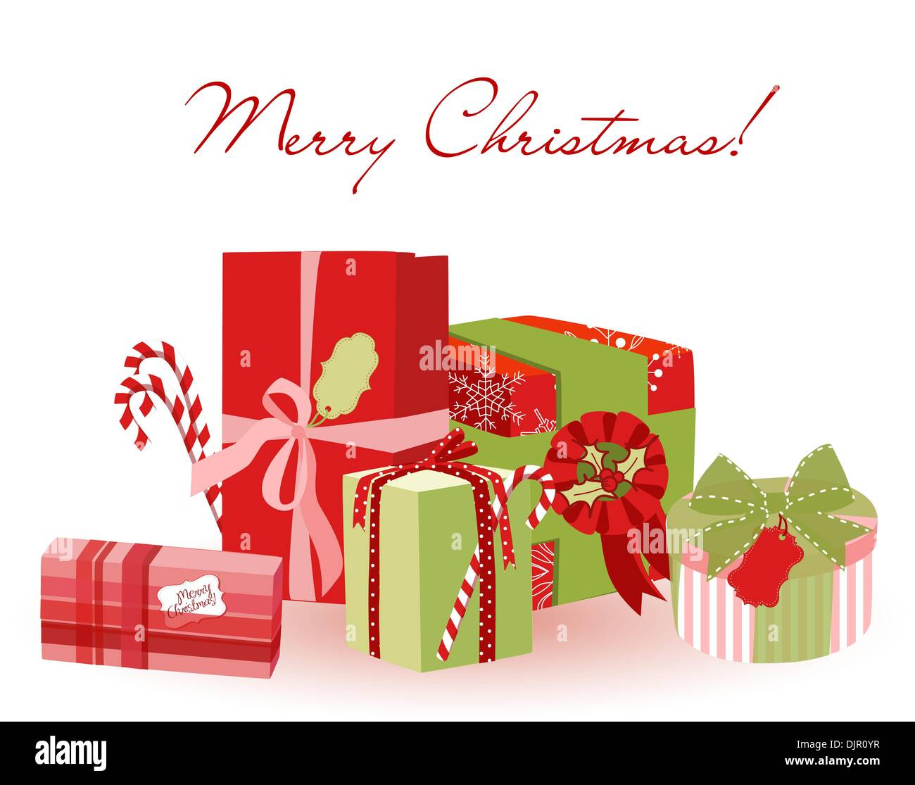 Cute Christmas Gifts Creative Packaging Stock Vector Image Art Alamy