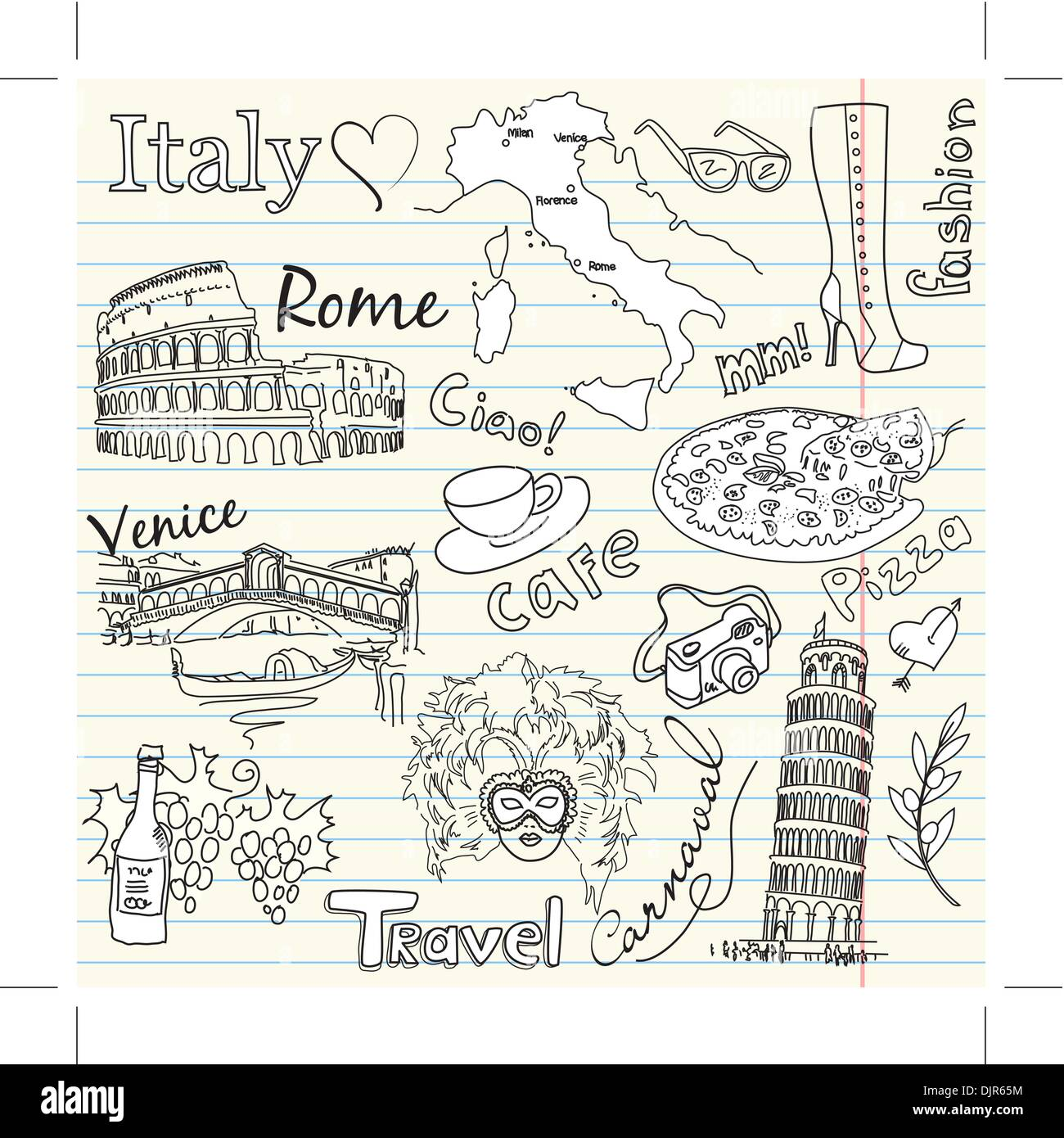 In Love With Italy - Stock Vector