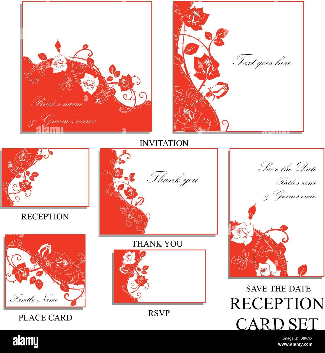 Wedding Invitation Rsvp Thank Card Stock Photos & Wedding Invitation ...