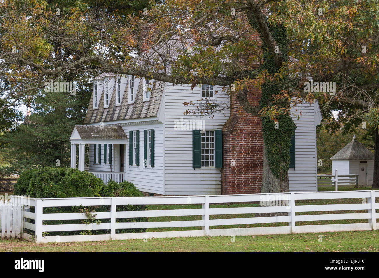 Moore House at historic Yorktown Battlefield in the Colonial National Historical Park in Virginia. Stock Photo