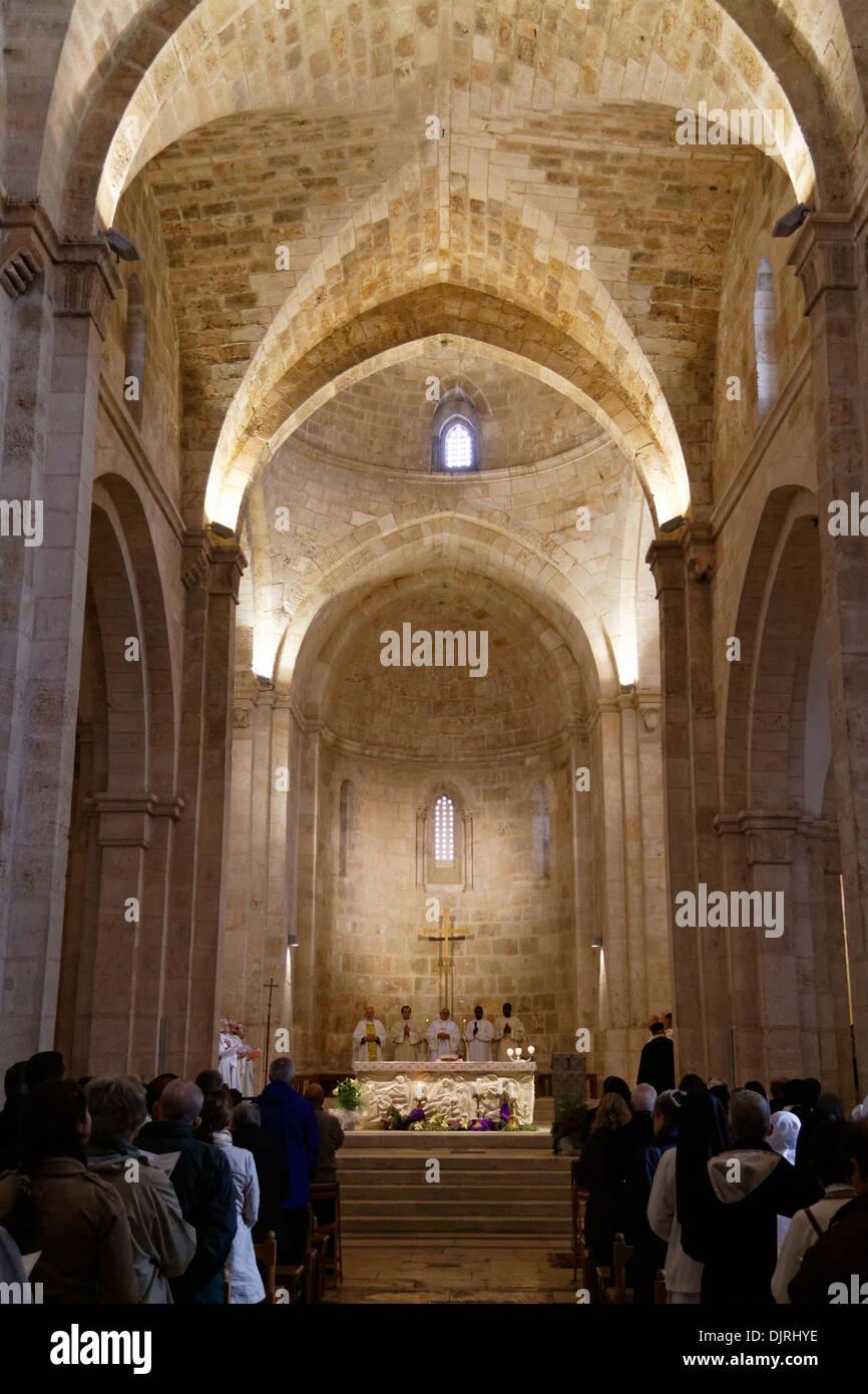 Feast of the Immaculate Conception at the Church of St. Anne, Jerusalem - Stock Image